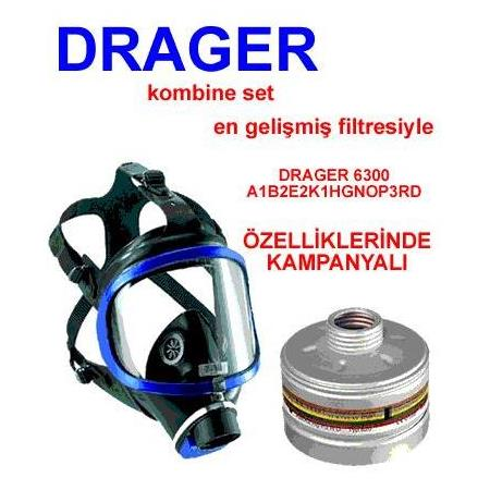 DRAGER 6300 + A1B2E2K1 HG P3 RD CO 20 P3 RD